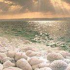 Salz am Toten Meer