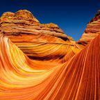 Die Sandsteinformation The Wave bei Utah in den USA ist surreal anzuschauen