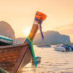 Sonnenuntergang auf der Insel Krabi