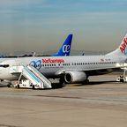 Flugzeuge am Madrider Flughafen