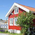 Typisches Schwedenhaus auf Dyrön