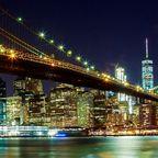 Blick auf Manhattan mit Brooklyn Bridge