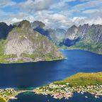 Lofoten-Inseln in Norwegen.