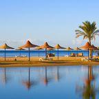 Strandanlage eines ägyptischen Hotels