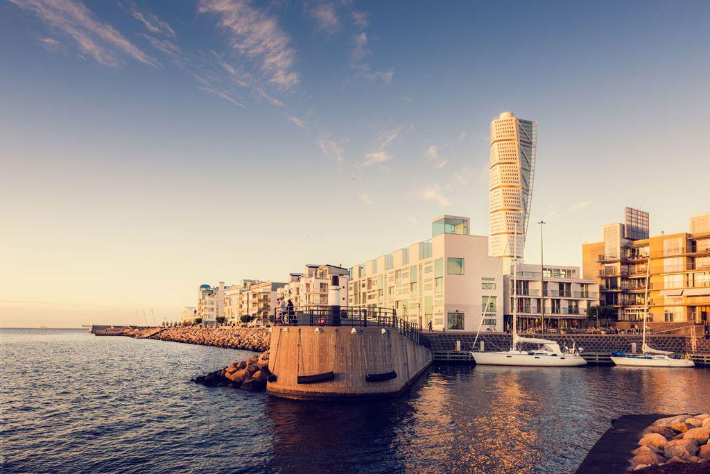 Der Västra hamnen und der Turning Torso