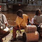 Afrikanische Straßenmusiker