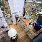 Ökologisches WC und Strom dank Sonnenkraft