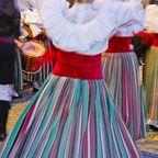 Tänzer in traditionellen kanarischen Kostümen.