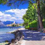 Das sommerliche Malcesine am Gardasee