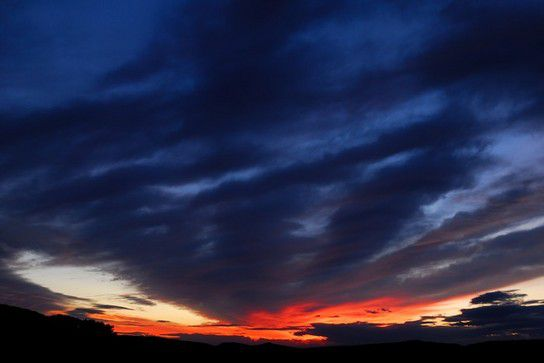 Sonnenuntergang Provence