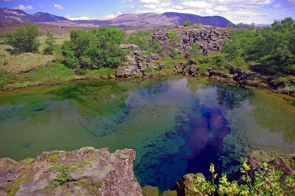 Graben im Nationalpark Thingvellir