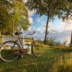 Fahrrad an der Küste bei Munkerup, Seeland