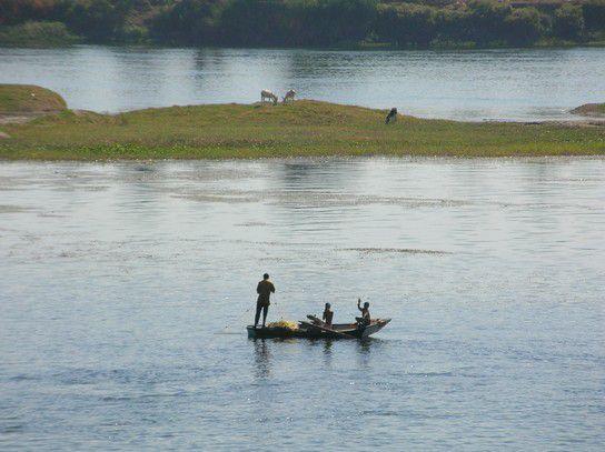 Fischen auf dem Nil