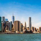 Manhattan und die Brooklyn Bridge