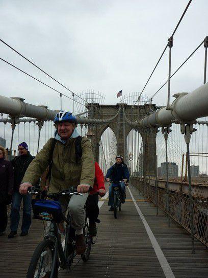 Mit dem Tandem über die Brooklyn Bridge
