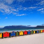 Strandhütten am Sunrise Beach in Muizenberg
