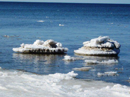 Eisschollen auf der Ostssee