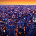 Glamouröser Sonnenuntergang in Chicago