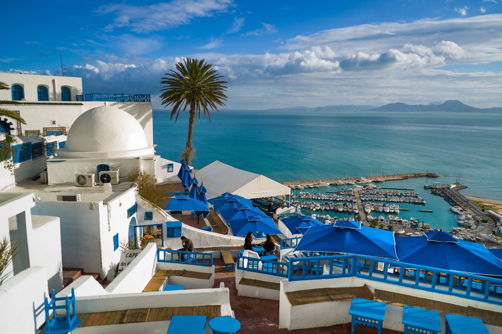 Sidi Bou Said - Blick auf den Hafen