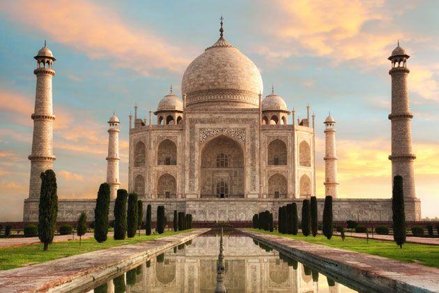Gänsehaut-Garantie - das Taj Mahal bei Sonnenaufgang