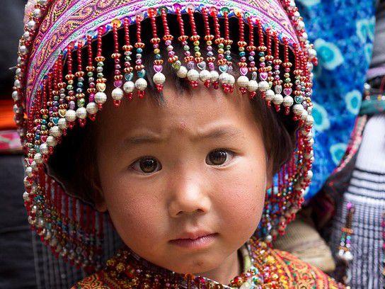 kleines Mädchen in Yunnan