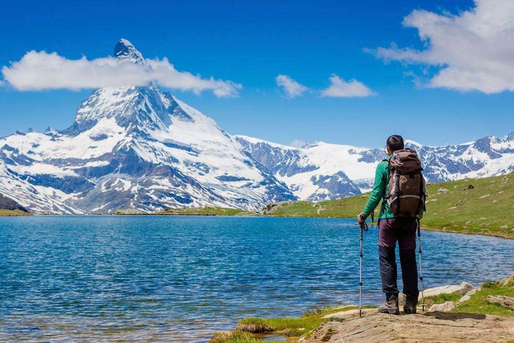 Das Matterhorn in Zermatt in der Schweiz ist einer der schönsten Berge der Welt