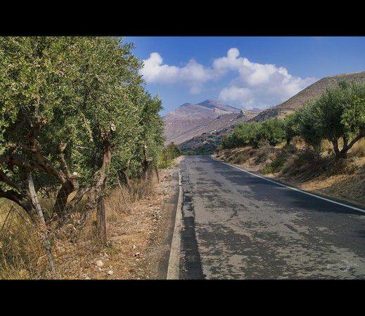 Straße in Phalasarna (Kreta)