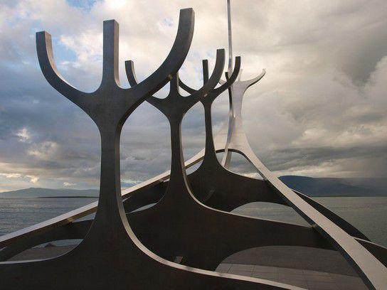 Wikinger Denkmal in Reykjavik