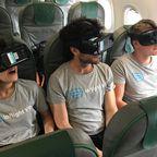 Während des Flugs in virtuelle Welten flüchten