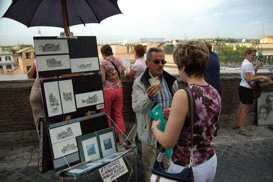 Bilderkauf in Rom