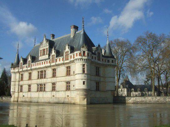 Schloss Azay-le-Rideau, Loire, Frankreich