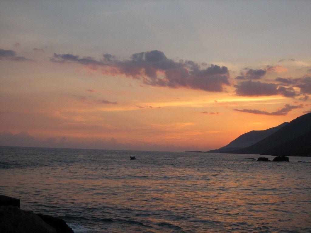 Samaria Schlucht Sonnenuntergang