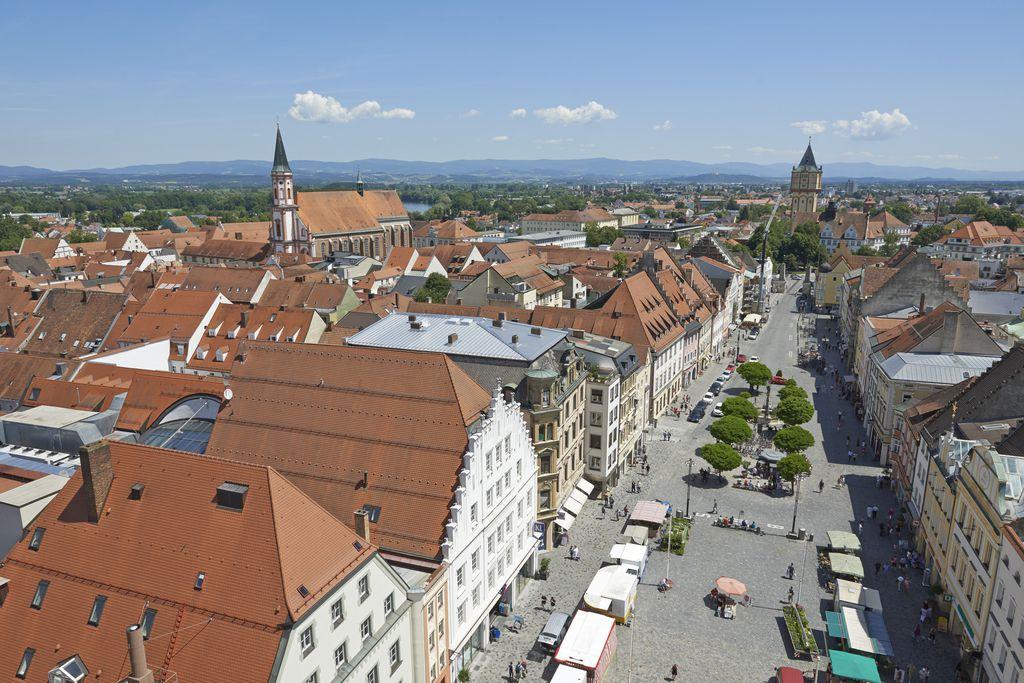 Ludwigsplatz von oben