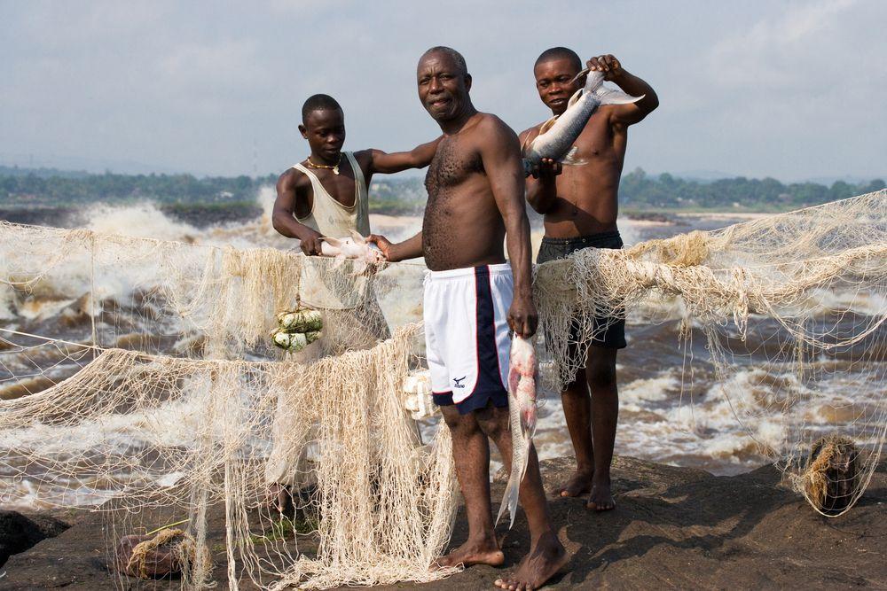 Nach dem Nil ist der Kongo der zweitlängste Fluss Afrikas...