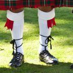 Original schottische Kilts während der Highland Games