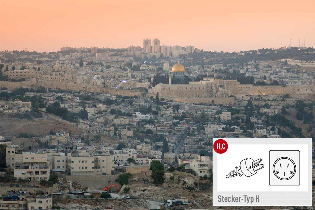 Typ H: Reisestecker für Israel