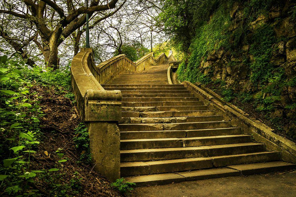 Treppen auf den Gellértberg
