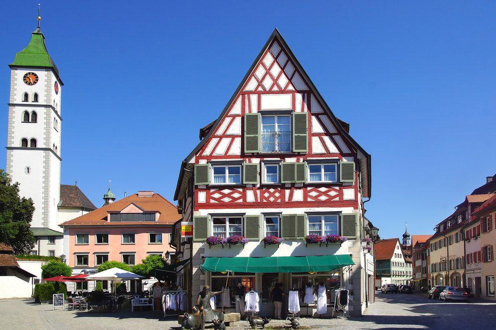 Die historische Altstadt von Wangen