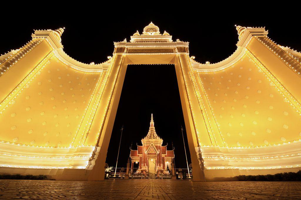 Tor des Phnom Penh Königspalasts