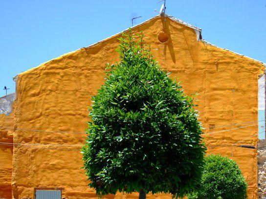 Hauswand in Ronda/ Spanien