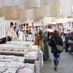 Trubel und Textilien am Maybachufer in Neukölln