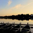 Boote auf dem ruhigen Vejlesø