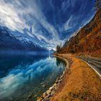 Gebirgsspiegelung in den Schweizer Alpen