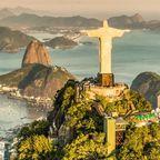 Luftbild von Botafogo Bay in Rio De Janeiro