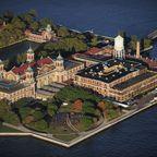 Luftaufnahme von Ellis Island