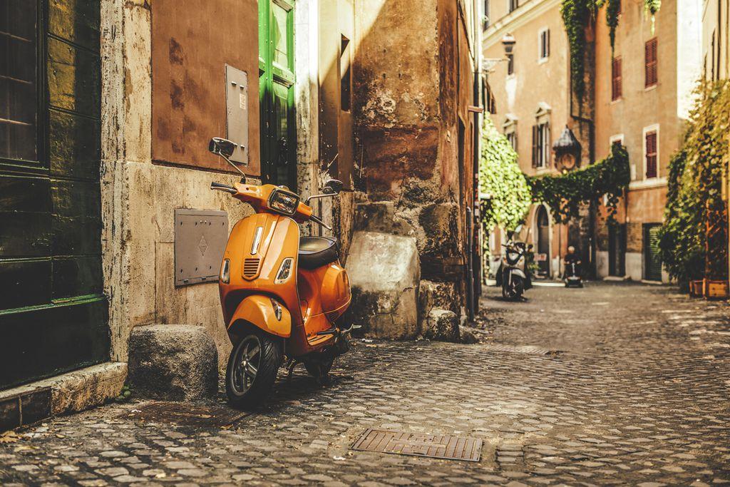 Straße in Trastevere, Rom