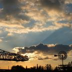 Sonnenuntergang im Landschaftspark Duisburg Nord