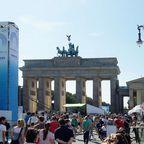 Brandenburger Tor zur Leichtathletik WM 2009