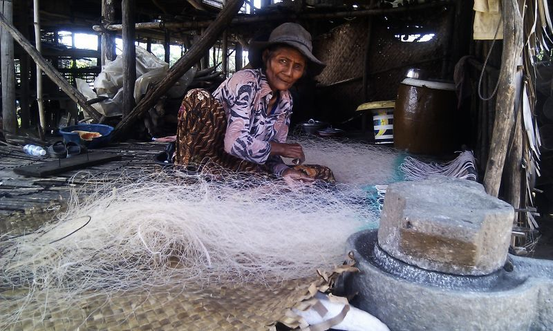 Fischernetzproduktion