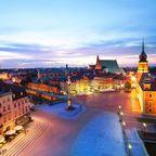Warschau Beleuchtet